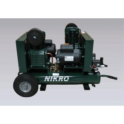 Compresseur a air électrique double moteur et pompe 115V portatif - Nikro