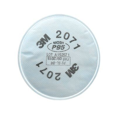 3M 2071 P95 Particulate Filters for respirator mask