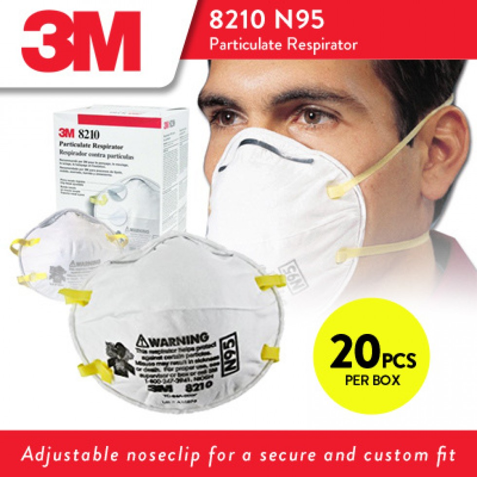3m From Respirators 8210 N95 Particulate