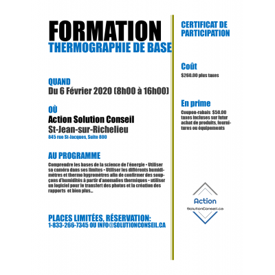 Formation Thermographie de base, 1 jour